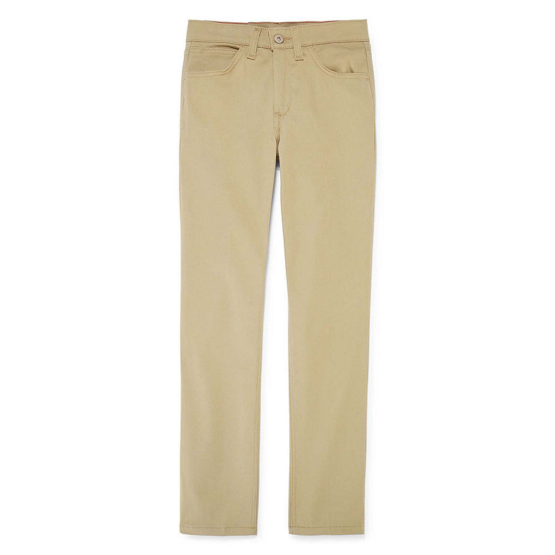 Dickies 5-Pocket Skinny Stretch Twill Pants, Girls, Desert Tan, Size 8