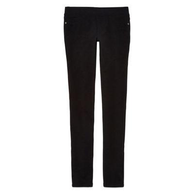V Gold Knit Skinny Pants with Heart Back Pocket - Girls 7-16