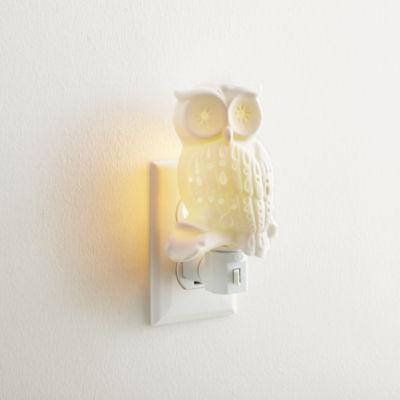 North Pole Trading Co. Ceramic Owl Night Light