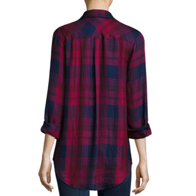 A.N.A Long Sleeve Button-Front Shirt - Tall