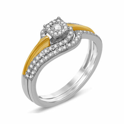 Womens 1/4 CT. T.W. Diamond 10K Gold Bridal Set