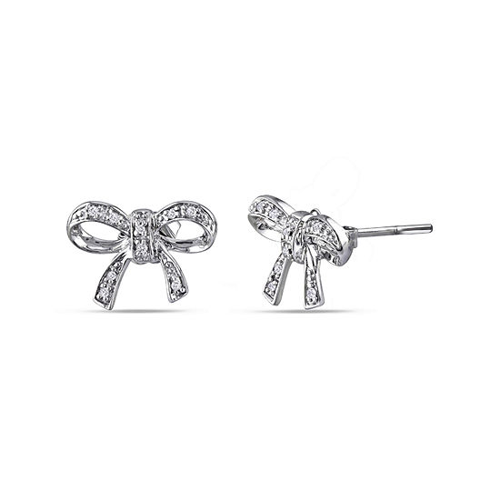 Diamond Accent Genuine White Diamond Sterling Silver 9.6mm Stud Earrings