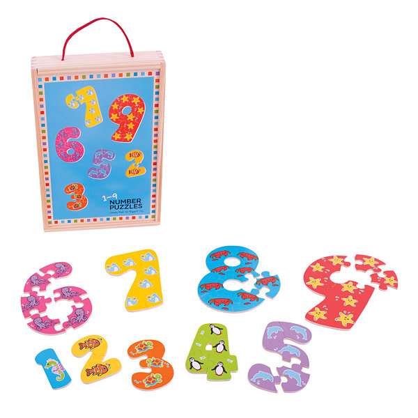 Bigjigs Toys - 1-9 Number Puzzle
