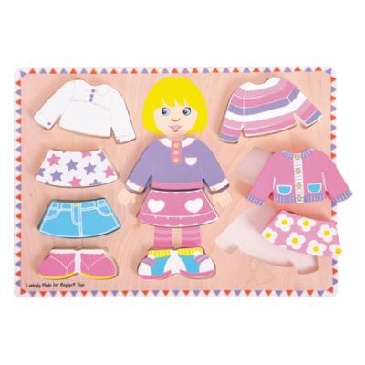 Bigjigs Toys - Big Dressing Girl Puzzle