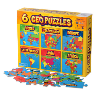 Geotoys - 6 GeoPuzzles in One Box