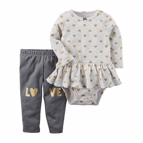 Carter's Baby Girls 2-pc. Hearts Pant Set