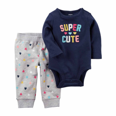 Carter's 2-pc. Hearts Pant Set Baby Girls