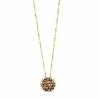 Grand Sample Sale™ by Le Vian® 5/8 CT. T.W. Vanilla Diamonds® & Chocolate Diamonds® in 14k Honey Gold™ Chocolatier® Pendant Necklace