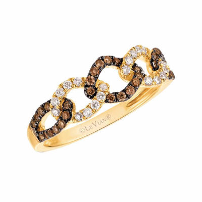 Grand Sample Sale™ by Le Vian® 1/3 CT. T.W. Vanilla Diamonds® & Chocolate Diamonds® in 14k Honey Gold™ Chocolatier® Ring
