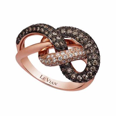 Grand Sample Sale™ by Le Vian® 1 3/8 CT. T.W. Vanilla Diamonds® & Chocolate Diamonds® in 14k Strawberry Gold® Chocolatier® Ring