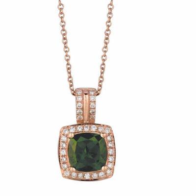 Grand Sample Sale™ by Le Vian® Pistachio Diopside® & 1/5 CT. T.W. Vanilla Diamonds® in 14k Strawberry Gold® Pendant Necklace