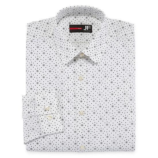 Jferrar Easy Care Stretch Slim Fit Long Sleeve Dress Shirt