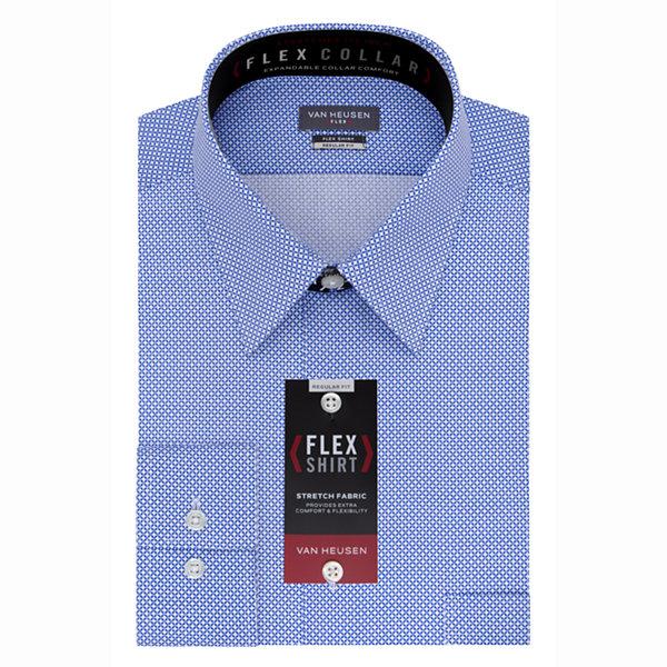 Van heusen flex collar dress shirt long sleeve woven for Van heusen shirts flex collar