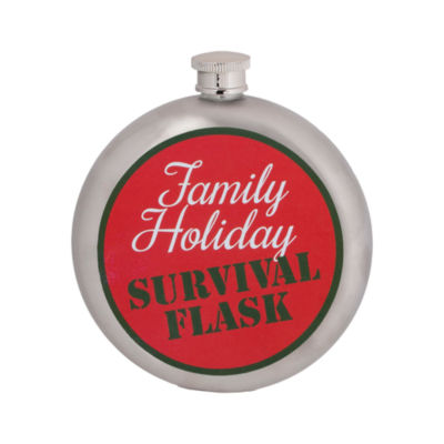 Wembley Holiday Survival 10 oz. Flask