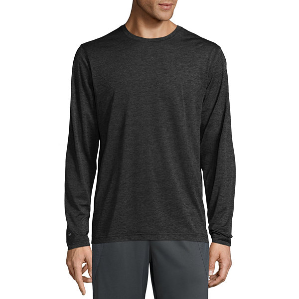 Xersion Heather Power Long Sleeve Crew Neck T-Shirt