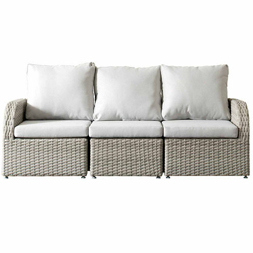 CorLiving Brisbane Weather Resistant Resin Wicker 3-pc. Sofa Patio Set