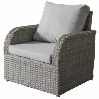 CorLiving Brisbane Weather Resistant Resin Wicker Patio Chair