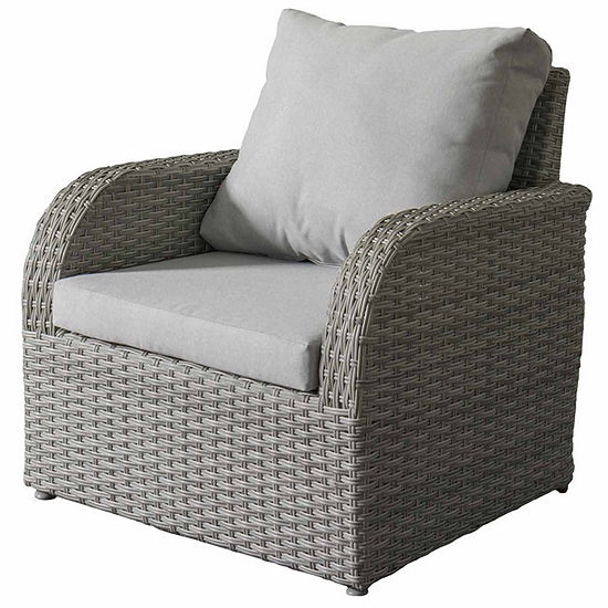 CorLiving Brisbane Weather Resistant Resin Wicker Patio Chair