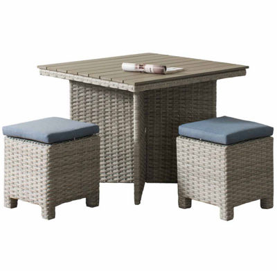 CorLiving Brisbane Weather Resistant Resin Wicker 3-pc. Patio Dining Set