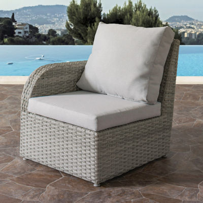 CorLiving Brisbane Weather Resistant Resin Wicker Left Arm Patio Chair