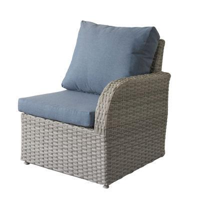 CorLiving Brisbane Weather Resistant Resin Wicker Right Arm Patio Chair