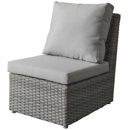 CorLiving Brisbane Weather Resistant Resin Wicker Armless Patio Chair