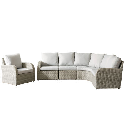 CorLiving Brisbane Weather Resistant Resin Wicker 5-pc. Corner Sectional Patio Set