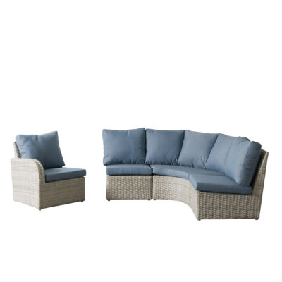CorLiving Brisbane Weather Resistant Resin Wicker 4-pc. Corner Sectional Patio Set