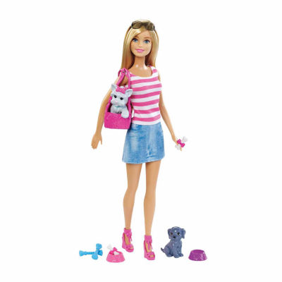 Barbie Doll & Pets Gift Set