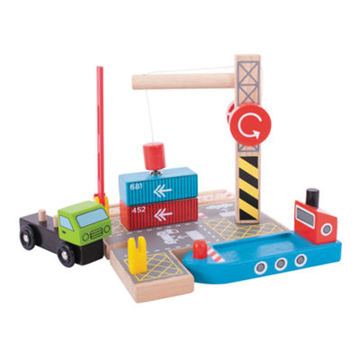Container Shipping Yard Wooden Train Accessory Train