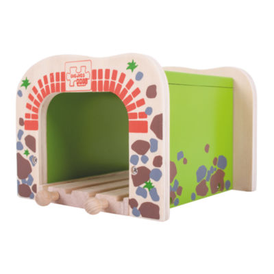 Double Tunnel Wooden Train Accessory Train