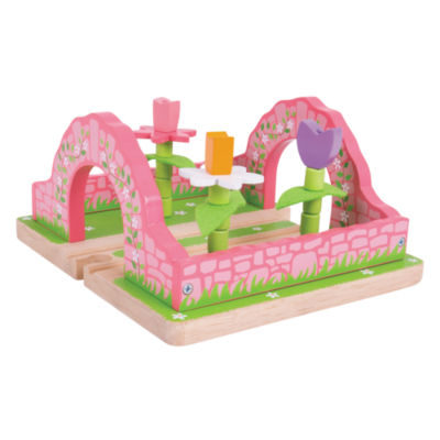 Flower Garden Wooden Train Accessory Train