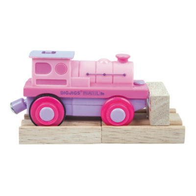Pink Battery Operated Steam Engine Train