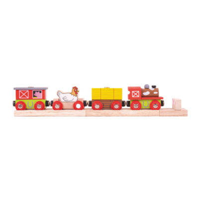 Wooden Farmyard Train