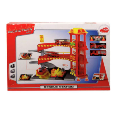 Fire Station Playset Train