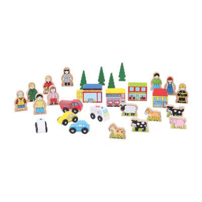 Bigjigs Toys - Track Side Accessory Set