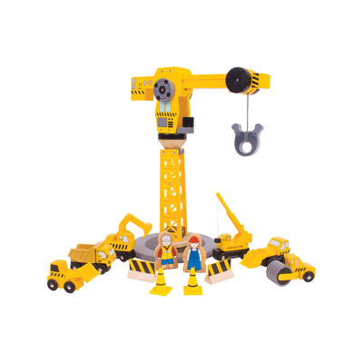 Bigjigs Toys - Big Crane Construction Set