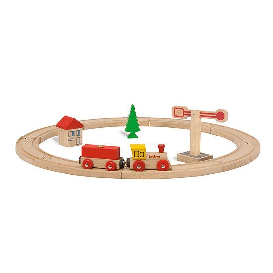 Eichhorn 15 Piece Circular Wooden Train Set