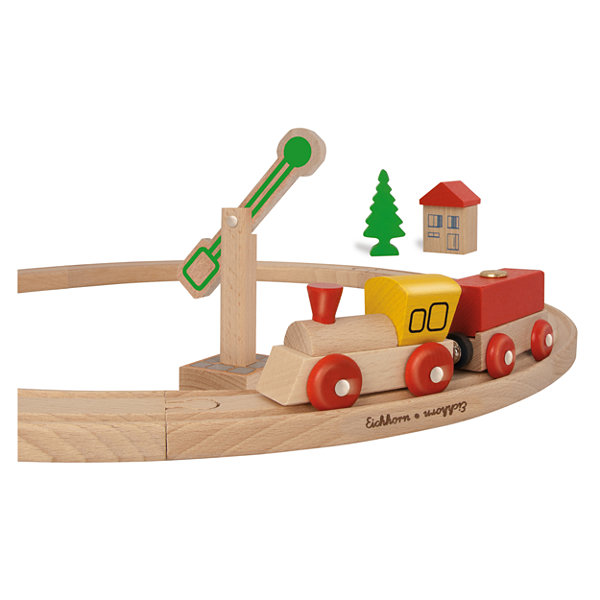 Eichhorn - 15 Piece Circular Wooden Train Set