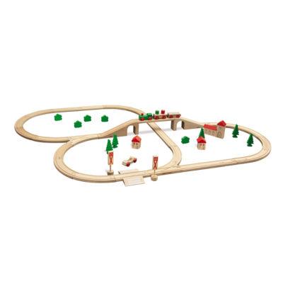 Eichhorn - 55 Piece Wooden Train Set with Bridge