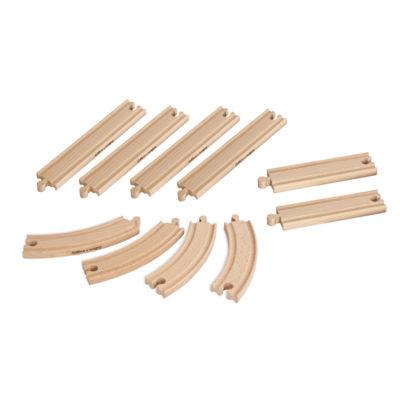 Eichhorn - 10 Piece Wooden Train Track Set