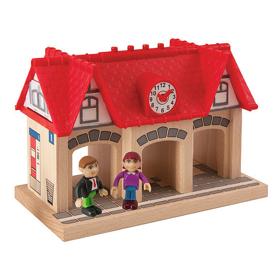 3 Piece Wooden Soundstation For Trains Sets