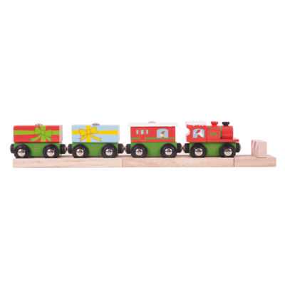 BigJigs Toys - Wooden Christmas Train