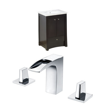 American Imaginations Elite Rectangle Floor Mount8-in. o.c. Center Faucet Vanity Set