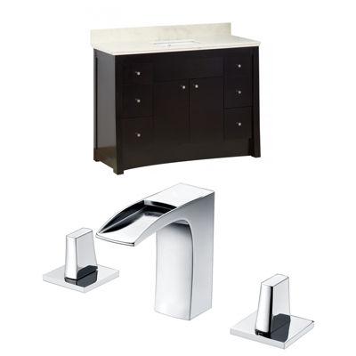 American Imaginations Elite Rectangle Floor Mount8-in. o.c. Center Faucet Vanity Set