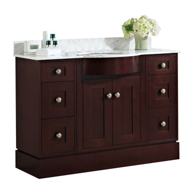 American Imaginations 29-in. W x 18-in. D Modern Plywood-Melamine Vanity Base Only In Wenge