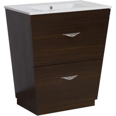 American Imaginations Vee V-Shape Floor Mount 4-in. o.c. Center Faucet Vanity Set