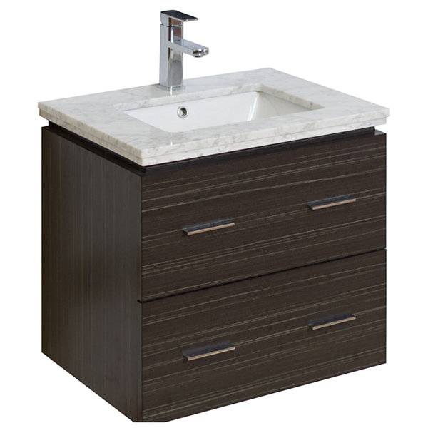 American Imaginations 47-in. W x 22-in. D Traditional Birch Wood-Veneer Vanity Base Only In Cherry