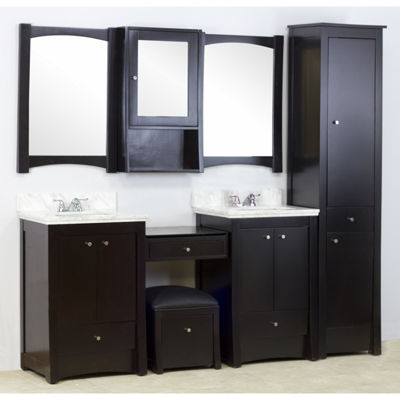 American Imaginations Elite Rectangle Floor Mount4-in. o.c. Center Faucet Vanity Set