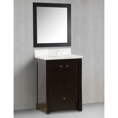 American Imaginations 31-in. W x 17.5-in. D Transitional Birch Wood-Veneer Vanity Base Only In Distressed Antique Walnut